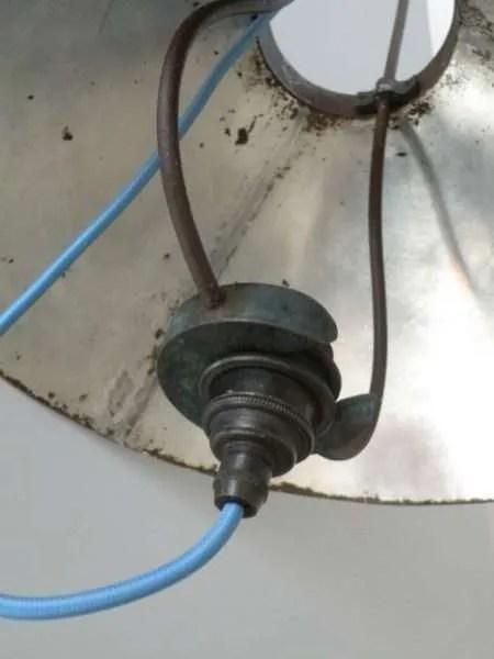 Stallamp uit frankrijk detail