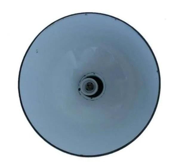 Zwart geemailleerde hanglamp binnenkant