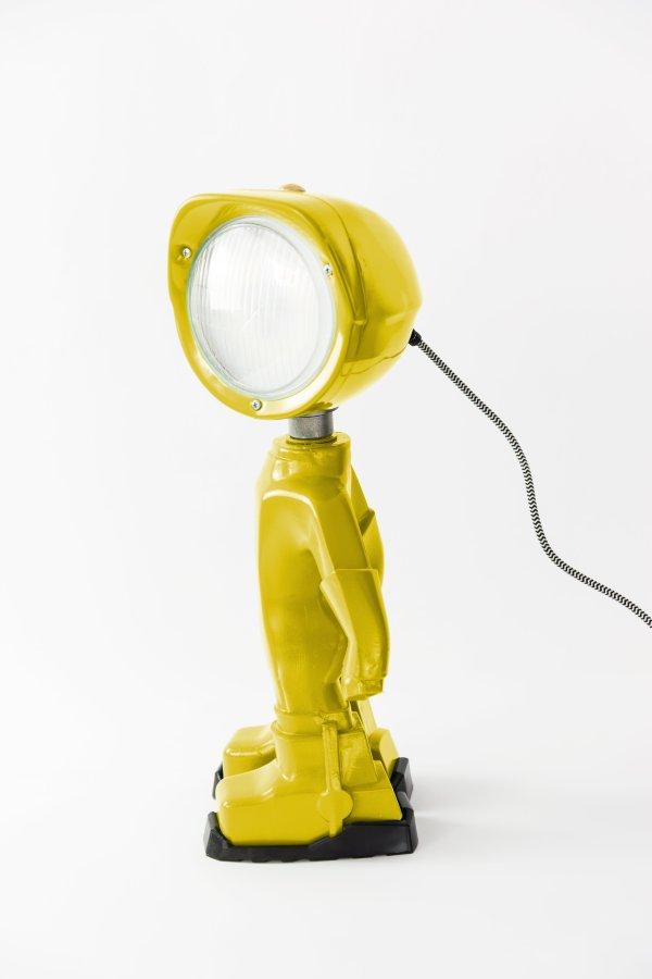 The lampster geel zijkant BINK lampen