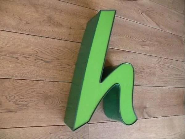 letterlamp groen h 2