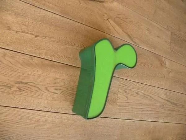 letterlamp groen r2