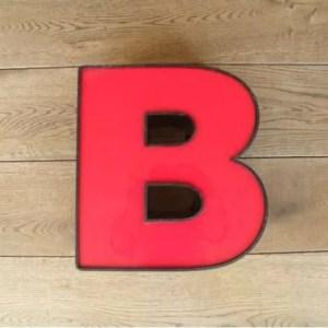 letterlamp rood B 1