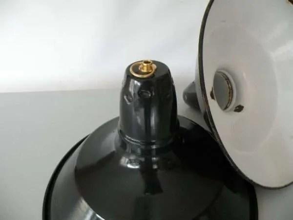 Geemailleerde hanglamp blauw s 2