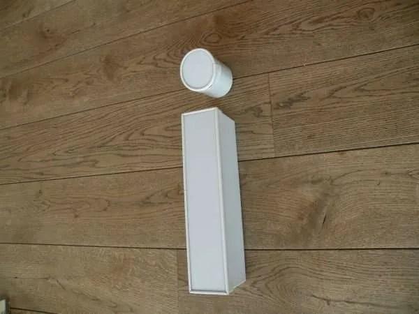 Letterlamp i wit zijkant