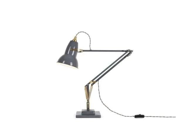Original 1227 Messing bureaulamp Elephant Grey 1