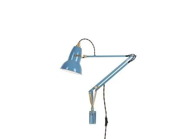 Original 1227 messing wandlamp anglepoise Dusty Blue 1