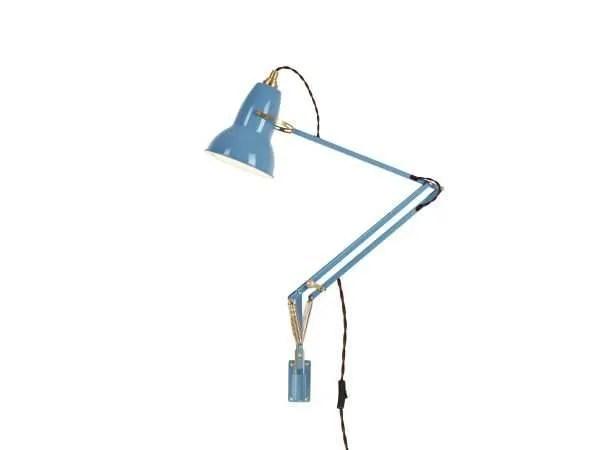 Original 1227 messing wandlamp anglepoise Dusty Blue 2