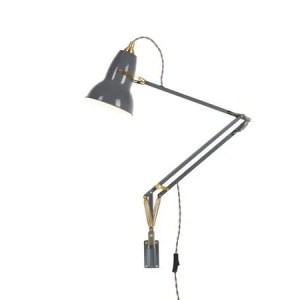 Original 1227 messing wandlamp anglepoise Elephant Grey 2
