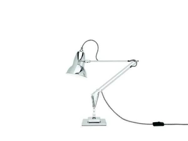 Original 1227 bureaulamp Bright Chrome w BW Cable 1