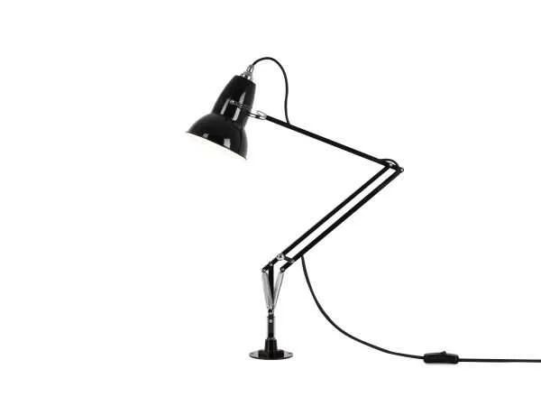 Original 1227 bureaulamp zwart met vaste voet 2