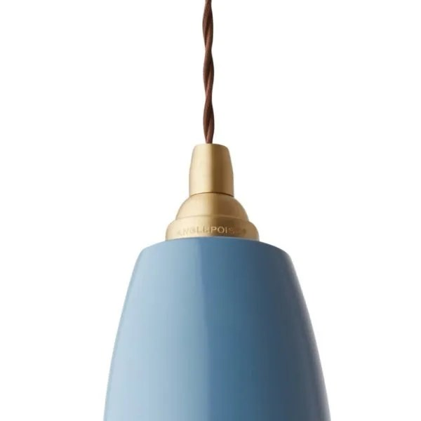 Original 1227 Messing anglepoise hanglamp Dusty Blue 2
