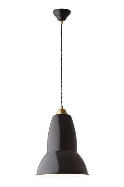 Original 1227 Messing anglepoise xl hanglamp - Deep Slate 1