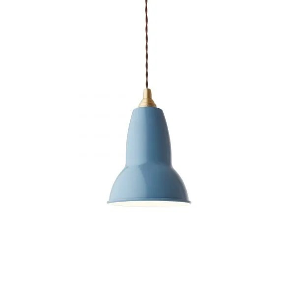 Original 1227 messing anglepoise hanglamp Dusty Blue 4