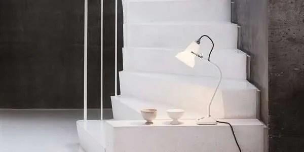 Original ceramic mini Anglepoise wandlamp BINK in situ