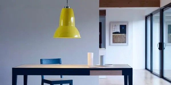 original 1227 Messing Anglepoise XL hanglamp in situ 1