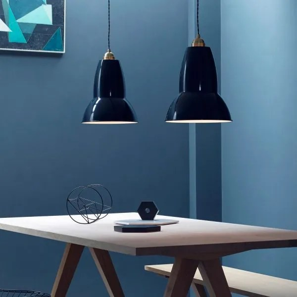 original 1227 Messing Anglepoise XL hanglamp in situ