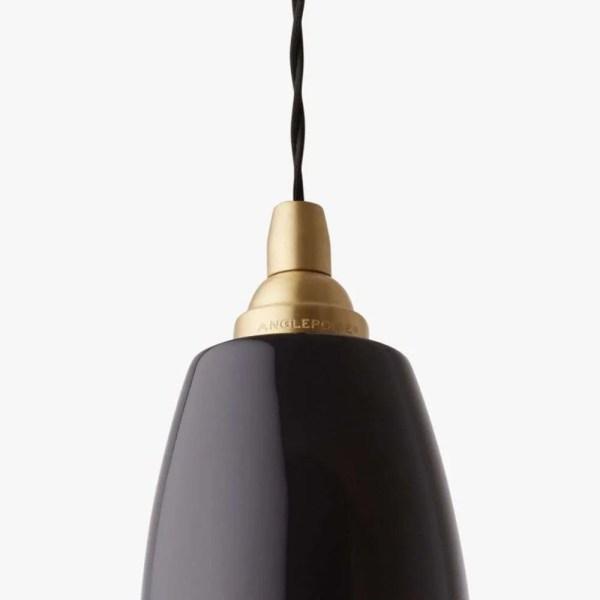 original 1227 brass anglepoise hanglamp jet black detail 1