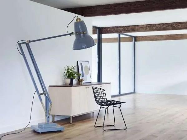 Original-1227-koperen anglepoise-Giant-vloerlamp - Elephant Grey