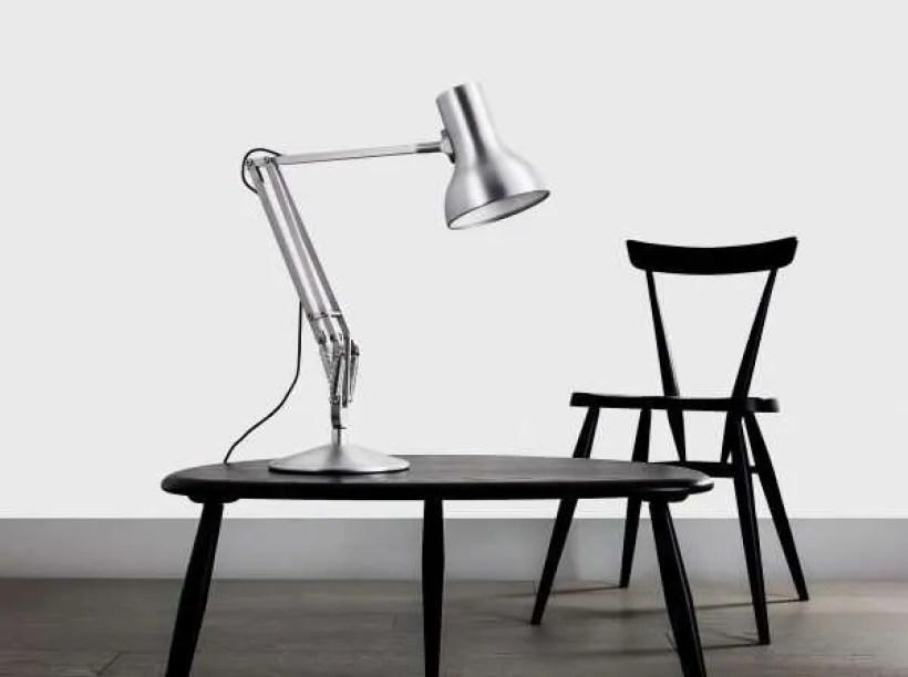 Anglepoise type 75 Mini bureau Lamp - Brushed Aluminium
