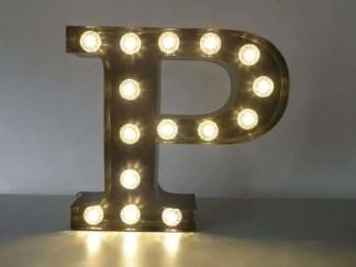 letterlamp bakletter P voorkant