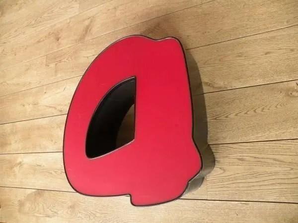 rood zwart letterlamp a 2