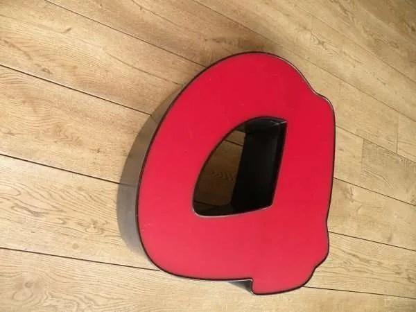 rood zwart letterlamp a 3