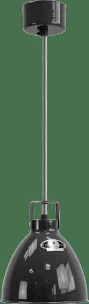 Jielde-Augustin-A160-Hanglamp-Zwart-Hamerslag