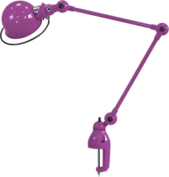 Jielde-Loft-D4040-klemlamp-Paars-Fuschia-RAL-4008