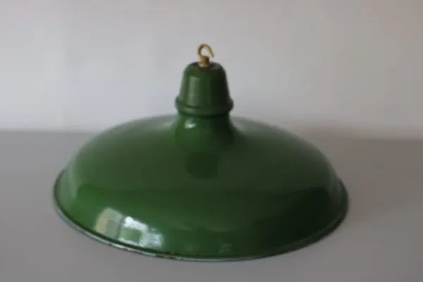 Groen geëmailleerde hanglamp XL 3