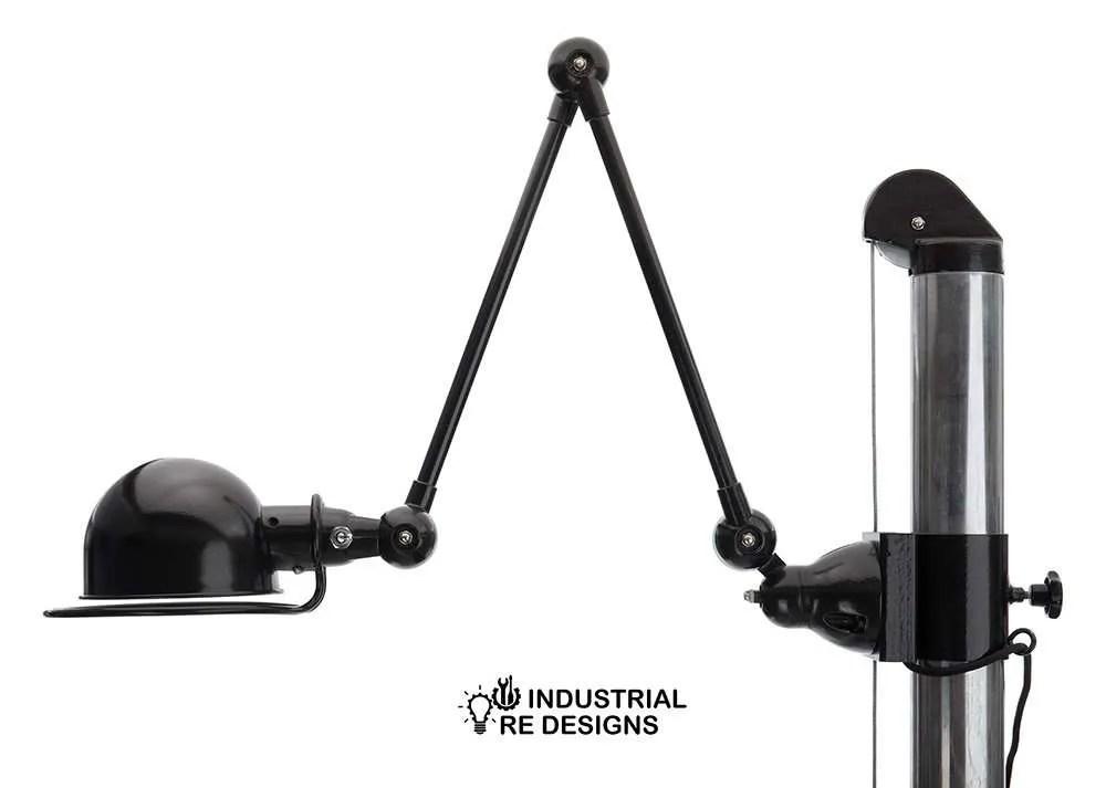 Flex werkplek BINK lampen detail jielde loft 2 arm