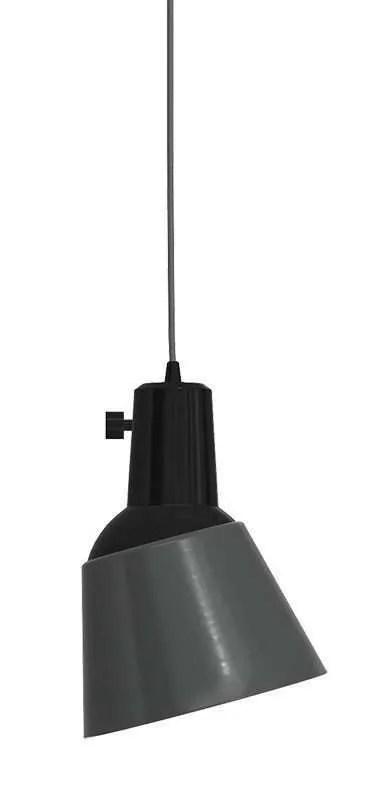 K831 bauhaus verstelbare hanglamp antraciet geëmailleerd