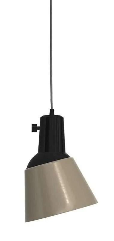 K831 bauhaus verstelbare hanglamp grijs geëmailleerd