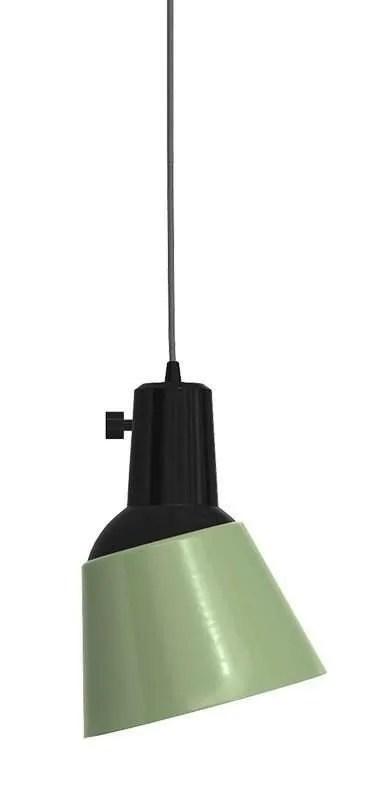K831 bauhaus verstelbare hanglamp licht groen geëmailleerd