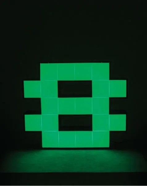 Delightfull letterlamp 8 groen