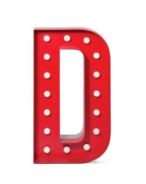 Delightfull letterlamp D