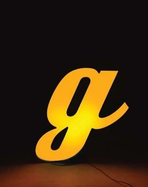 Delightfull letterlamp G aan