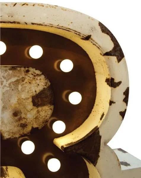 Delightfull letterlamp R detail