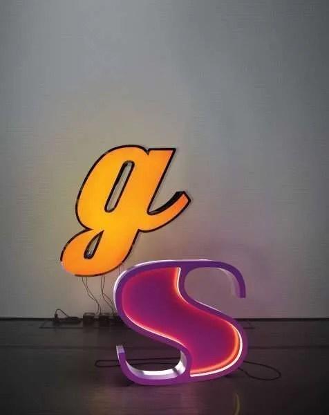 Delightfull letterlamp S en G