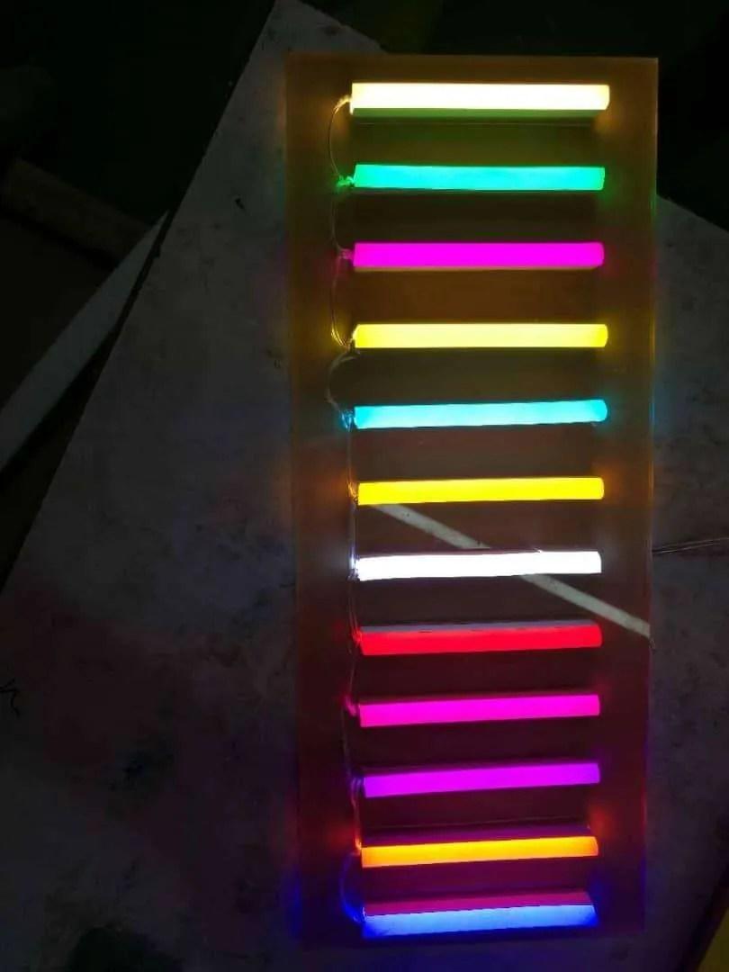 LED NEON Overzicht kleuren aan