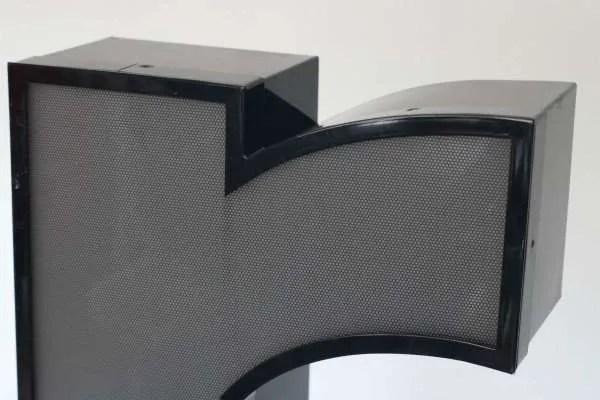 Letterlamp zwart letter r 2