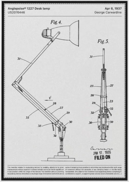 octrooi Anglepoise 1935