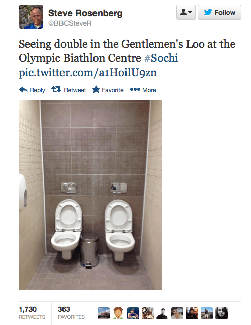 The Culture of Toilets at the Sochi Olympics