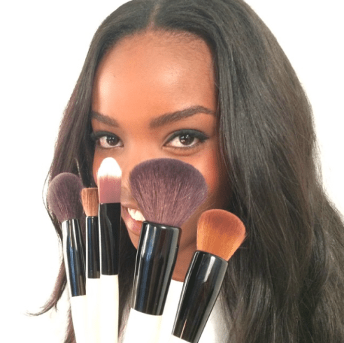 beauty products makeup brushes