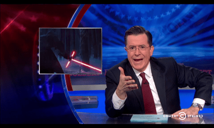 Stephen Colbert Weighs in on Lightsaber Debate