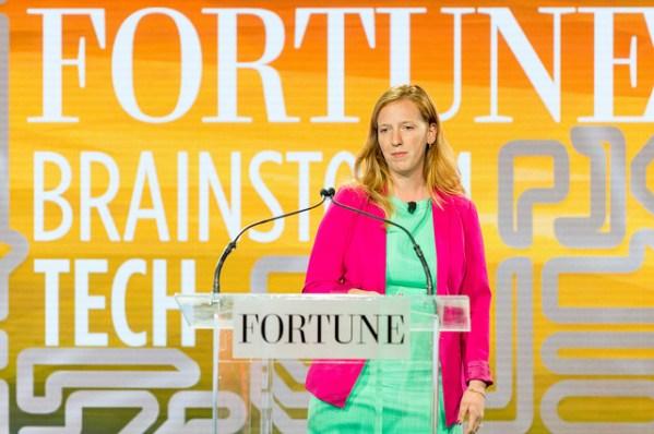 Danielle Morrill, CEO, Mattermark participates in Unicorn Idol during Fortune's Brainstorm Tech 2015