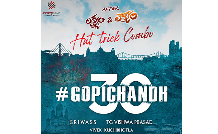 Gopichand 30 With Sriwass Under People Media Factory Announced - IndustryHit.Com