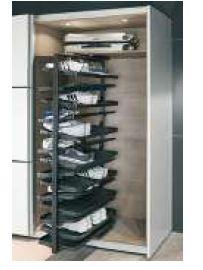 revolving shoe rack 1680 m height 365 mm depth 720 mm width white hafele