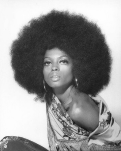 woman with a big 4c hair