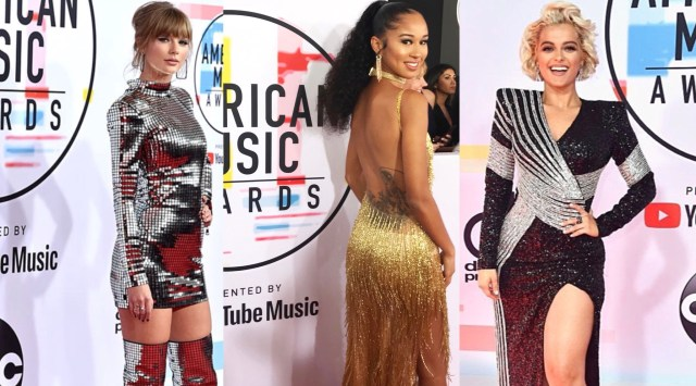 Christina Cooper, Taylor Swift and Bebe Rexha on the American Music Awards Red Carpet
