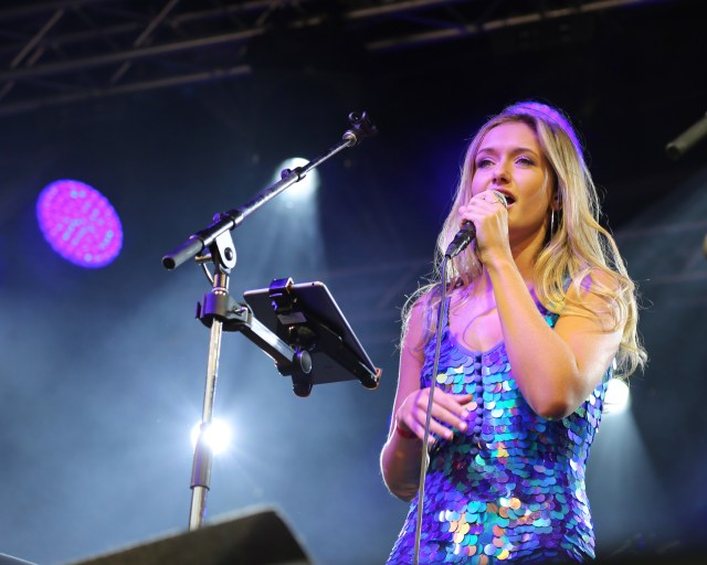 Katie Kittermaster live on stage